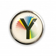 Rainbow 'Y' Pin Badge